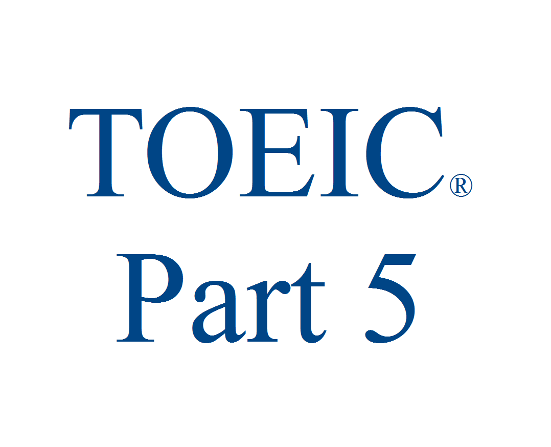 toeic part5